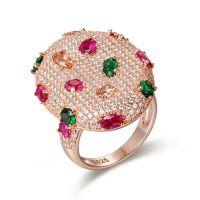 Wholesale Jewelry 925 Sterling Sliver Semi Precious Stone Jewelry Ring