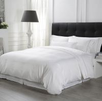 Eliya High Quality Bedroom 100% Cotton White Runner Quilt Cover Bedding Sheet Hotel Bed Set