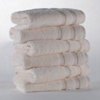 Eliya 5 Star Luxury Hotel White Cotton Bath Towel For Sale