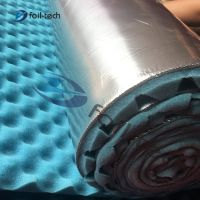 Duct insulation types Soundproof acoustic foam blue