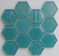 Waterjet Glass Mosaic - MD-1083HEXMS1P