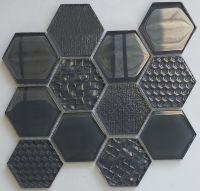 Waterjet Glass Mosaic - MD-1213HEXMS1P