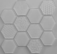 Waterjet Glass Mosaic - MD-1013HEXMS1P
