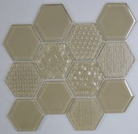 Waterjet Glass Mosaic - MD-1043HEXMS1P