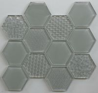 Waterjet Glass Mosaic - MD-1023HEXMS1P