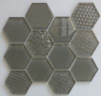 Waterjet Glass Mosaic - MD-1053HEXMS1P
