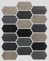 Waterjet Glass and Stone Mosaic - MD-1824HEXMS1P