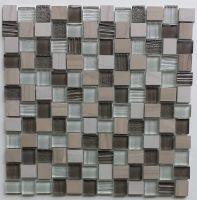 Glass and Stone Mosaic - MD-0411WEAVEMS1P