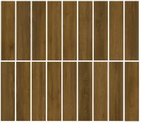 Porcelain tile - BROWN OAK- GLAZED (18 FACES)