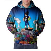 Black Goku Dragon Ball Full Print Sublimation Men Zipper Hoodie