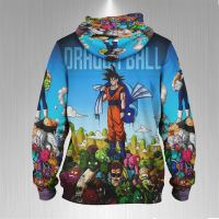 Black Goku Dragon Ball Full Print Sublimation Men Zipper Hoodie