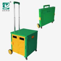 OEM available fashion and smart foldable plastic shopping trolley cart with universal wheels for adults