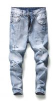 MEN JEANS HEAVY STONE ABRASION WASHED