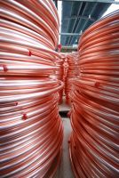 Copper tubes for the equipment of air conditioners, refrigerators and freezers