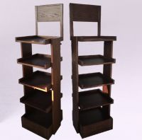 High quality floor Solid Wood display rack and wholesale wooden display