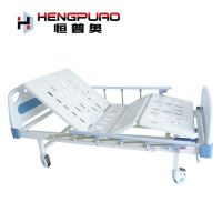 manual two cranks modern hospital bed for elderly man