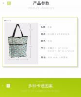 Portable folding supermarket shopping bag cartoon shopping cloth bag  shopping waterproof storage bag & pure color shopping bag & large size environmental bag & large capacity shopping bag &