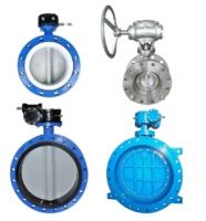 High performance metal seat  pneumatic electric actuated double triple flange butterfly valve