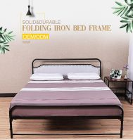 Hotel bedroom black metal frame folding bed