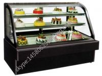 Commercial Free Standing Glass Modern Cake Showcase