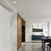 Zoom spotlight led ceiling lamp embedded cob downlight home hole lamp adjustable focus bulls eye spotlight aisle lights