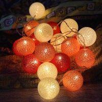 Led Thai cotton thread ball lamp string bulb light bulb flash lamp string lamp bedroom girl heart room decoration lamp