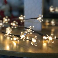 Led color lamp, branch lamp, wedding decoration lamp, Christmas holiday lamp, 20 head of household ins decorative flower arrangement stick lamp