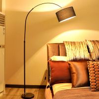 Floor lamp LED Nordic remote control living room bedroom study simple web celebrity creative simple lamp ins wind diaoyutai lamp