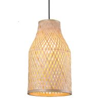modern chinese banboo rattan weaving chandeliers