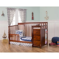 No. 1235 ASTM listed North American style 4 in 1 pine wood solid wood Baby crib with drawer & changing table 51x27''