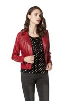 Faux Leather Pu Jacket for Women , Slim Tailoring Short Moto Biker Jackets , Zip Up Long Sleeve Winter Coat