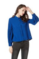 Button Down Rayon Shirts for Women�Long Sleeve Casual Collared Shirts and Blouses