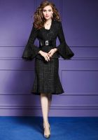 Fashion two-pieces coat suits for women