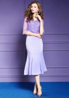 The OL slim fishtail skirt is a new spring and summer fashion girl temperament MIDI skirt