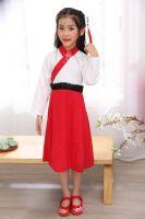 Cheap hot sale girl Tang suits Chinese traditional dress Hanfu  Chinese costume long sleeve cheongsam ethnic Hanfu