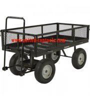 Strongway Steel Jumbo Garden Wagon - 2,200-Lb. Capacity, 60in.L x 31 1/2in.