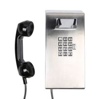 Auto Dial Jail Phone with Metal Keypad Guest Room Phone Flame proof Industrial Telephone Prison Phone