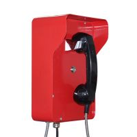 industrial red color Armored hotline phone emergency phone bank telephone JWAT206