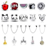 Bomoer 925 Plated Silver Charm Pendant Beads For Women Girls Fit Bracelet & Necklace Chain