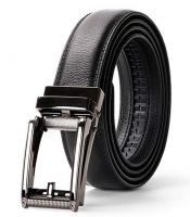 Men's Leather Belts with Automatic Buckle