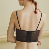Fashion adjustable bandeau top in floral black