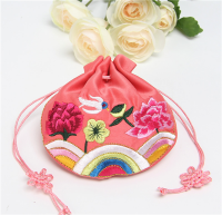 Drawstring gift pouche,Bridesmaid gift bag,Forest Floral Wedding Favor Bag-satin wedding gift bag,gift pouche,wholesale gift bag,red bags