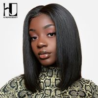 Short Lace Front Human Hair Wigs Bob Straight Wig