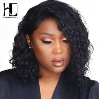 Short Lace Front Human Hair Wigs Bob curly Wig
