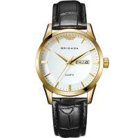 2019 Brigada quartz genuine leather fashion watch for man