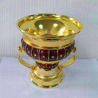 Factory Direct Sales RD-009L Incense burner Oil drop process gold body+brown decoration