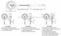 PT135G Mechanical melt pressure gauge