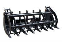 "72"" Log, Brush & Rock Grappler for Skid Steer - 3000 Hydraulic Cylinder T1 Steel"