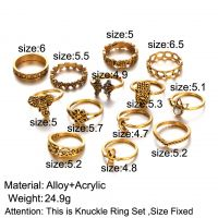 Alloy Vintage Stackable Knuckle Rings Taiji Design