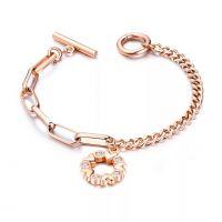 Titanium Steel Bracelet with Pendant Queen Head/ Heart/Four Leaf Clover